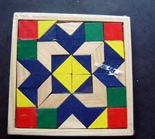 """Darice Rhombus Puzzle with Colored Wood Tiles 5 1/4"""" Square New Sealed 1067-23"""