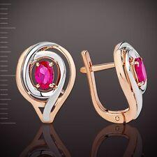 Bicolor Ohrringe mit Rubinen Korund Orb36161