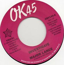 MAJOR LANCE    INVESTIGATE / THE BEAT   UK OK45/OUTTA SIGHT  NORTHERN Re-Iss