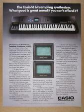 1987 Casio FZ-1 FZ1 Sampling Synthesizer Keyboard vintage print Ad