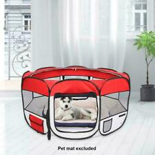 """45"""" Red Oxford Portable Pet Puppy Soft Tent Playpen Dog Cat Folding Crate"""