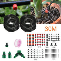 100ft 30M Auto Drip Irrigation System Kit Timer Micro Sprinkler Watering Garden