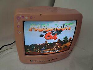 "2002 Hello Kitty Pink 13"" Television Crt Gamer Gaming Tube TV HKTV13 *READ*"