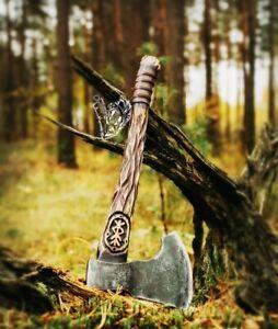 """Premium Viking Combat  Axe """"Viking Sky"""" Handmade Custom Handforged"""