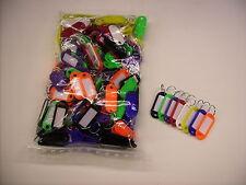 100 Schlüsselschilder mit Ring zum Beschriften 8 Farben Schlüsselanhänger bunt