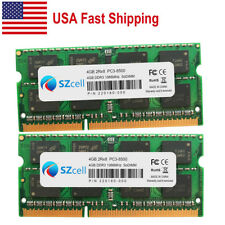 2X2GB 2Rx8 PC3-8500 SODIMM Memory RAM iMac Macbook Pro 30dayWT Samsung 4GB Kit