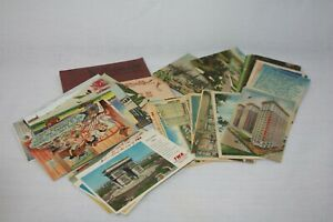 Vintage Lot of 69 ASSORTED Postcards, Linen,Fold Outs, Houston, Galveston, TWA