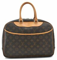 Authentic Louis Vuitton Monogram Deauville Hand Bag M47270 LV B5896