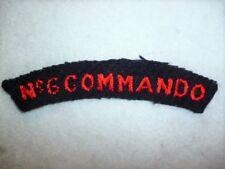 No. 6 Commando WW2 Genuine Cloth Shoulder Title Flash, British WW2