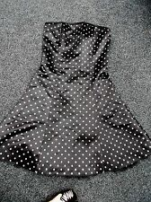 "Jessica mcclintock for gunne sax ""Negro manchada Cóctel Vestido talla 7/8"