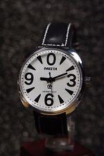 Russian mechanical watch RAKETA BIG ZERO. White dial-1  39mm