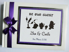 DISNEY BEAUTY AND THE BEAST BE OUR GUEST WEDDING GUEST BOOK  - any design