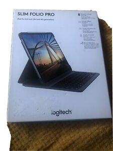 "Logitech Slim Folio Pro Backlit Bluetooth Keyboard Case,iPad Pro 12.9"",(3rd,4th)"