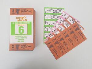 3 GAME Bingo Books 6 to view JUMBO BINGO TICKETS FLYERS
