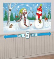 CHRISTMAS WHIMSICAL SNOWMEN SCENE SETTER FROZEN WINTER WONDERLAND PARTY SNOWMAN