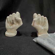 Vtg Nancy Funk Pop Art White Ceramic Porcelain Hand Toilet Paper Towel Holder