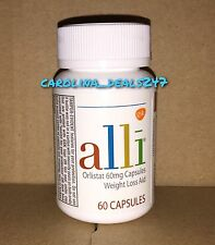 Alli 60 Orlistat Weight Loss Capsules Factory Sealed Bottle NEW Exp. 11/2018