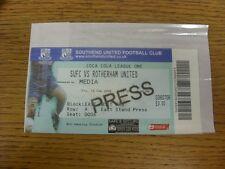10/02/2006 BIGLIETTO: Southend United V Rotherham United [Stampa/Media] COMPLETA TIC