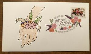 Garden Corsage 2020 FDC First Day Cover Hand Drawn Cachet DCP
