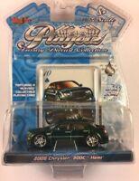Maisto Playerz Luxury 2005 Chrysler 300C Hemi Green Diecast 1/64 Wheels By Donz