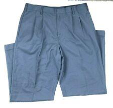 Merona Men's Classic Fit Pleated Pinstripe Dress Pants, Navy Blue, 36x32