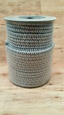Electric Fence Bungy Shock Cord 8mm Reflective x 50m (164ft) - 5 S/Steel Strands