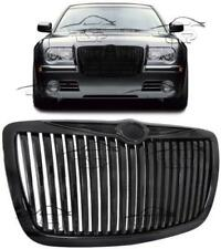 FRONT BLACK GRILL FOR CHRYSLER 300C 04-11 BENTLEY LOOK NO EMBLEM SPOILER NEW