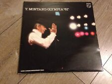YVES MONTAND  33t olympia 1981 2 disques 31 chansons live