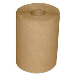 """Morcon 12300R Hardwound Roll Towels, 7 7/8"""" X 300 Ft, Brown, 12/carton"""