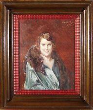 Olga Koch (1878-1954) Portrait einer Dame Art Deco