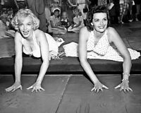 Film Actresses MARILYN MONROE & JANE RUSSELL 8x10 Photo @ Chinese Theater Print