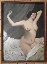 Brunel L huile sur carton signée 1929 nu féminin érotisme Expressionnisme