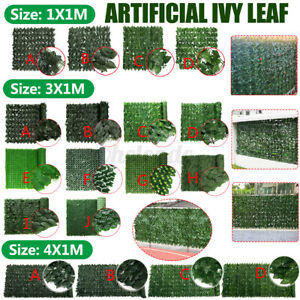 Faux Ivy Leaf Artificial Hedge Fencing Decorative Privacy Fence Screen Decor US