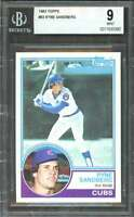 Ryne Sandberg Rookie Card 1983 Topps #83 Chicago Cubs BGS 9