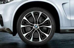 "BMW E70 F15 X5 E71 X6 M Double Spoke Style 599 21"" Gloss Turned Performance Rims"