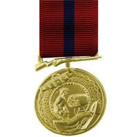 Genuine U.S. FULL SIZE MEDAL: MARINE CORPS GOOD CONDUCT - 24K GOLD PLATED