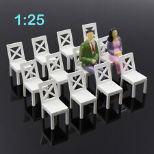 ZY16025 12pcs Model Train Railway Leisure Chair Settee Bench Scenery 1:25 Scale