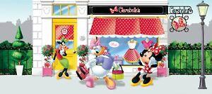 Fototapete Tapete Disney Minnie Mouse Daisy Duck Klarabella Kuh Foto 202 x 90cm