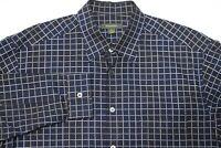 Ermenegildo Zegna button up long sleeve shirt checks plaid mens size XL cotton