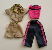 Barbie Clothes Fashion Go In Style x 2 outfits Leopard short set Pink Blue work