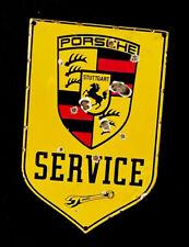 VINTAGE PORSCHE SERVICE BADGE PORCELAIN SIGN CAR GAS OIL TRUCK GASOLINE