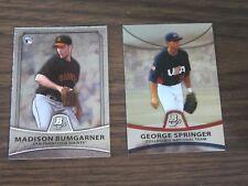 2010 Bowman Platinum # 73 Madison Bumgarner & # PP48 George Springer Cards (B17)