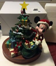 DISNEY PARKS CHRISTMAS RETRO SANTA MICKEY MOUSE MEDIUM FIGURE