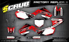 SCRUB Honda graphics decals CR 250R 1997 - 1999 Stickers Motocross '97-'99