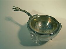 Vintage Sterling Silver Tea Strainer Watson Co W48 Hallmark 32g & Glass Bowl