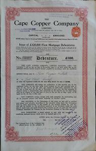 CAPE COPPER MINING COMPANY 1921