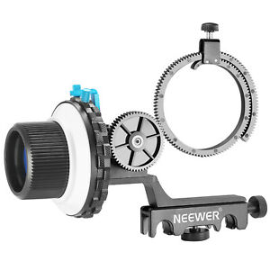 Neewer A-B Stop Follow Focus with Quick Release and Gear Ring Belt Mount