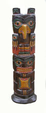 Totem Pole, 50cm Tall, Native American Style with Eagle, Hand Made, Wooden Item