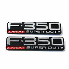 New F-350 Lariat Super Duty Fender F81Z-16720-XA Nameplate Emblem Logo Pair Set