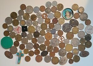 U.s & World Coin CULL LOT Some Silver Coins & Tokens DAMAGED COINS